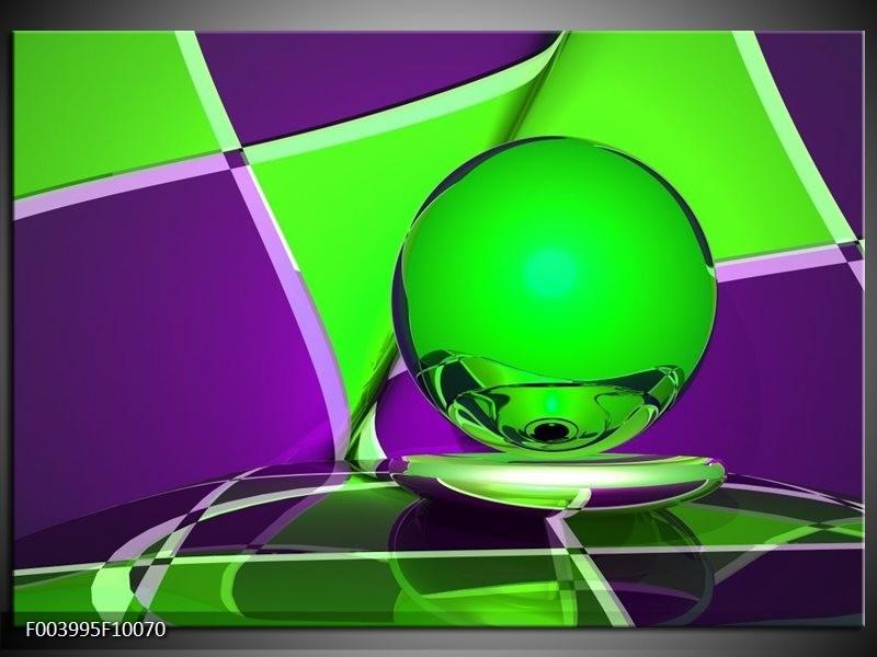 Glas schilderij Abstract | Paars, Groen