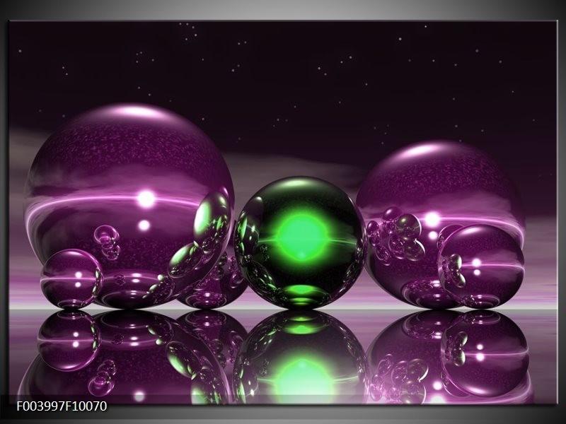 Glas schilderij Abstract | Paars, Groen, Zwart