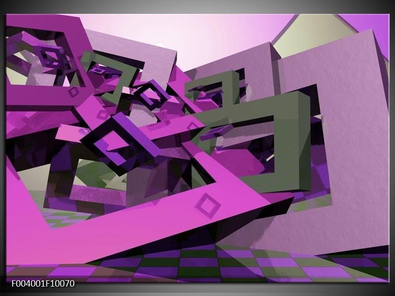 Foto canvas schilderij Abstract | Paars, Roze, Grijs