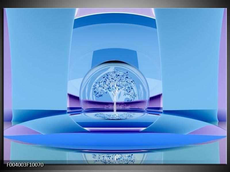 Foto canvas schilderij Abstract | Blauw, Paars, Wit