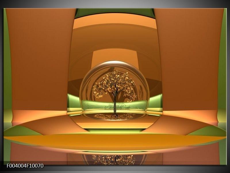 Foto canvas schilderij Abstract | Bruin, Groen,