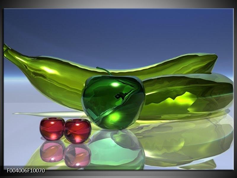 Foto canvas schilderij Abstract | Groen, Rood, Blauw