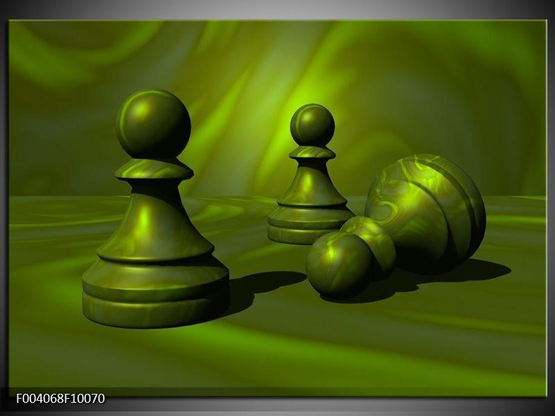 Foto canvas schilderij Spel | Groen