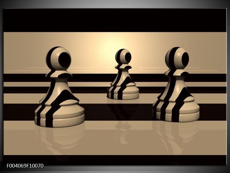 Glas schilderij Spel | Zwart, Wit, Grijs