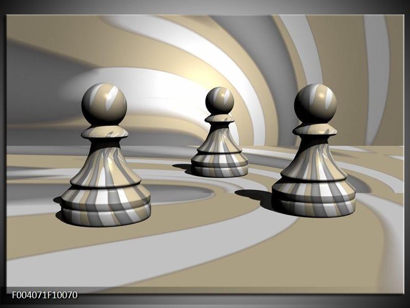 Glas schilderij Spel | Grijs, Zwart, Wit