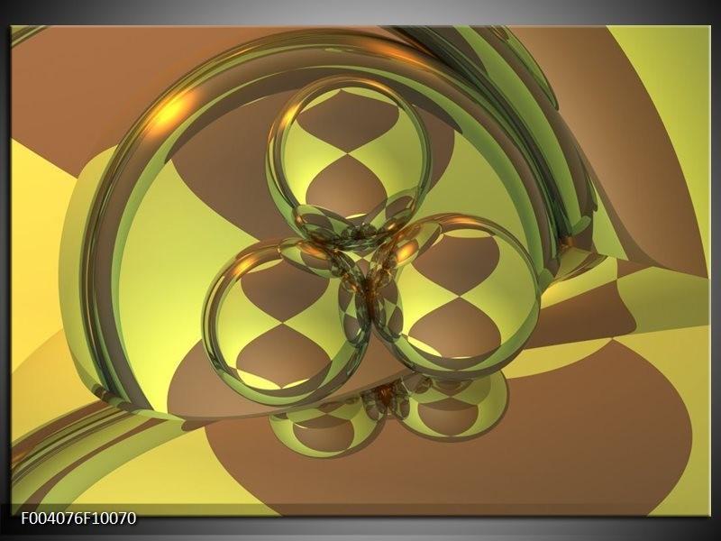 Glas schilderij Abstract | Groen, Grijs