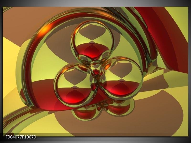 Glas schilderij Abstract   Groen, Rood