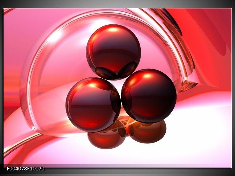 Glas schilderij Abstract | Rood, Wit, Roze