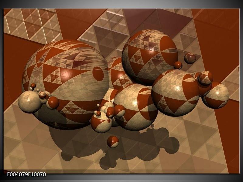 Glas schilderij Abstract | Bruin, Grijs