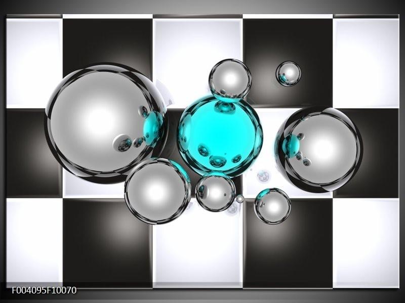 Glas schilderij Macro | Blauw, Grijs, Zwart