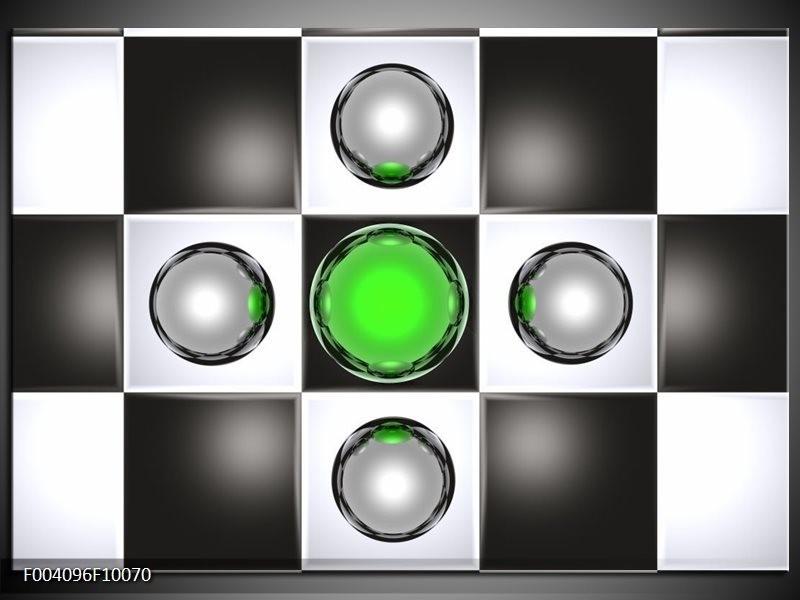 Foto canvas schilderij Macro | Groen, Zwart, Grijs