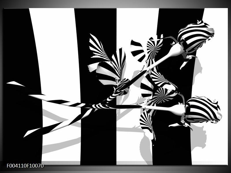 Foto canvas schilderij Abstract | Zwart, Wit, Grijs
