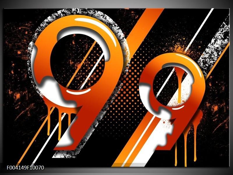 Foto canvas schilderij Abstract   Oranje, Geel, Zwart