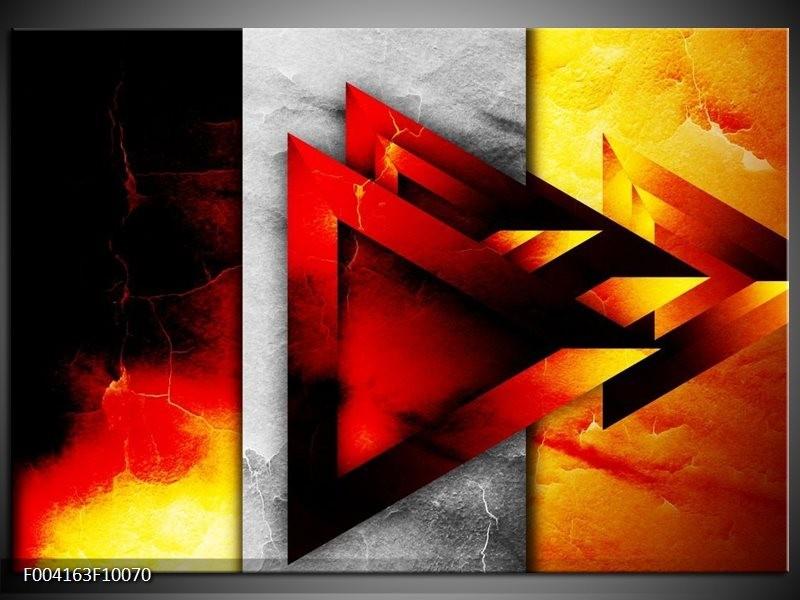Glas schilderij Abstract   Geel, Oranje, Rood