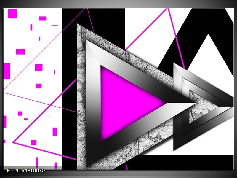 Foto canvas schilderij Abstract | Roze, Wit, Grijs