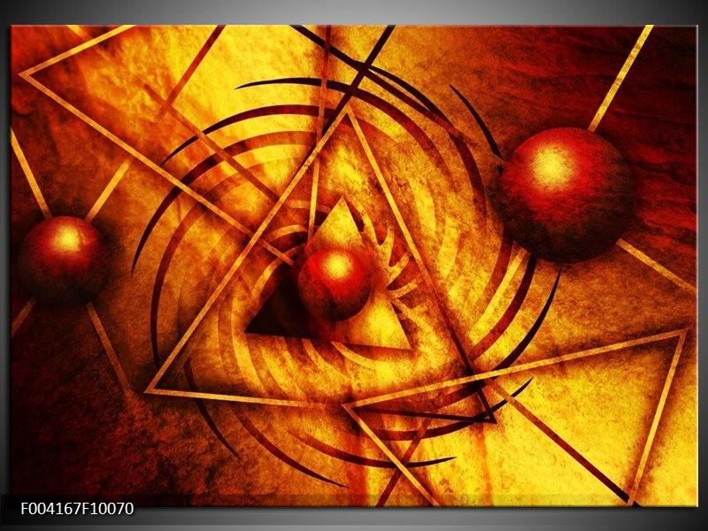 Foto canvas schilderij Abstract | Geel, Oranje, Bruin
