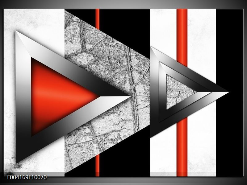 Foto canvas schilderij Abstract | Rood, Grijs, Wit