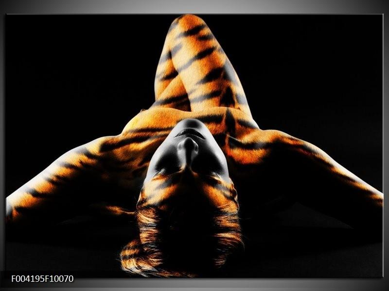 Foto canvas schilderij Abstract   Oranje, Zwart, Geel