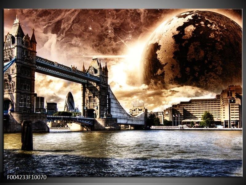 Foto canvas schilderij Londen   Bruin, Wit, Grijs