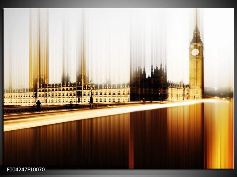 Foto canvas schilderij Londen | Bruin, Wit