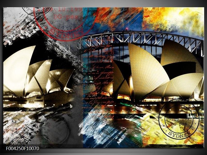 Foto canvas schilderij Sydney | Wit, Grijs