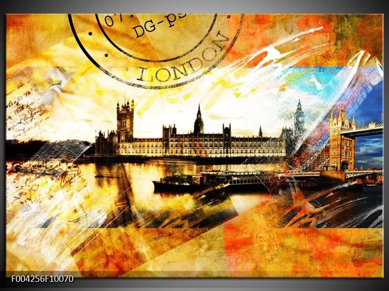 Foto canvas schilderij Engeland | Geel, Wit, Bruin