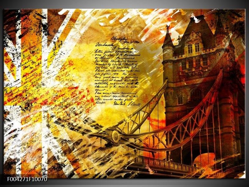 Foto canvas schilderij Modern | Geel, Rood, Zwart