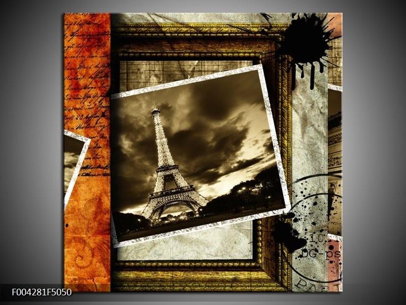 OP VOORRAAD  Foto canvas schilderij Modern  | 50x50cm | F004281