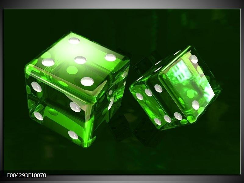 Glas schilderij Spel | Groen, Wit, Zwart