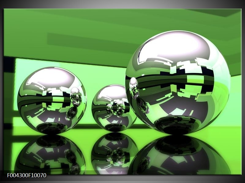Glas schilderij Modern | Groen, Wit, Zwart