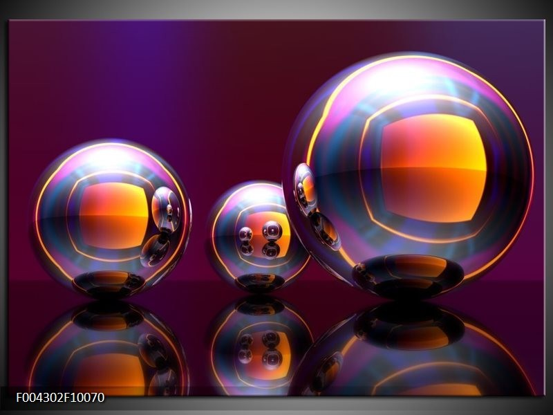 Glas schilderij Modern | Paars, Oranje, Blauw