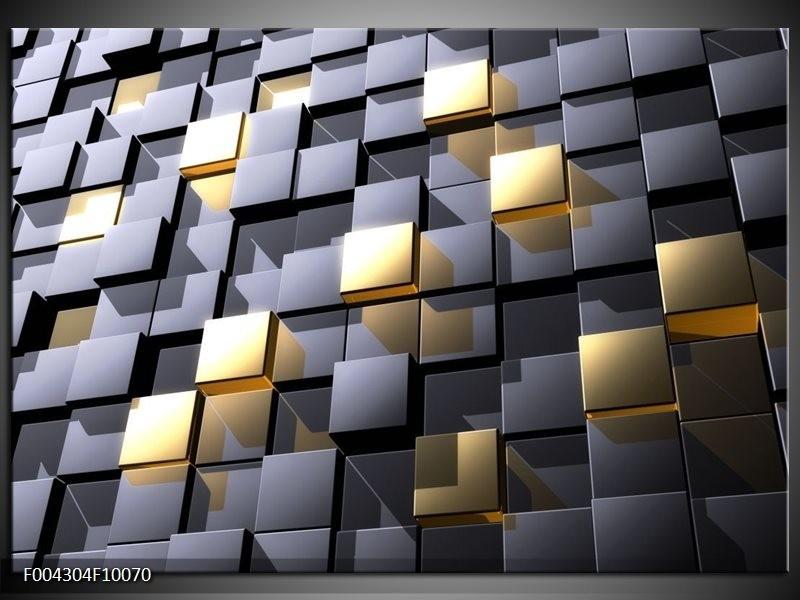 Glas schilderij Modern | Grijs, Geel