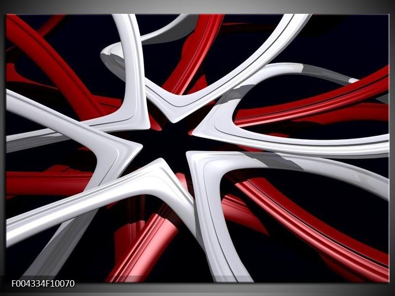 Glas schilderij Design | Rood, Grijs, Zwart