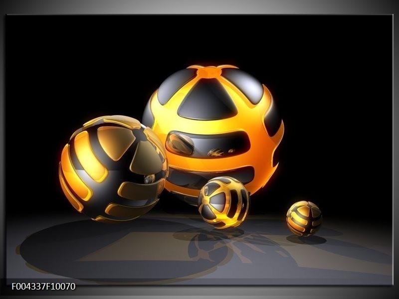 Glas schilderij Design   Oranje, Grijs, Zwart