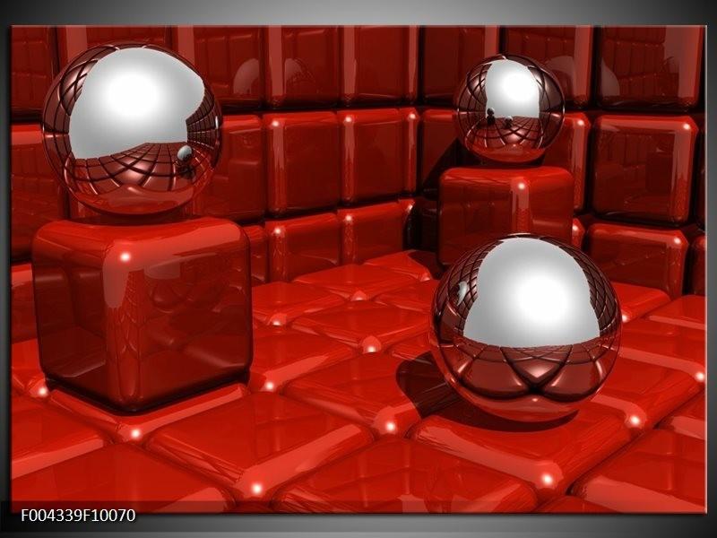 Glas schilderij Design | Rood, Grijs