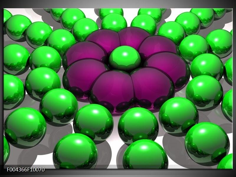 Glas schilderij Modern   Groen, Paars, Zwart