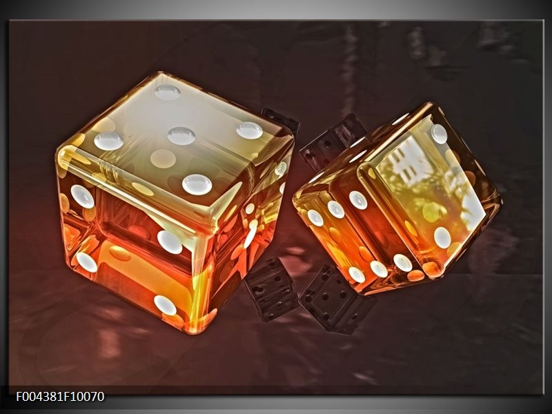 Glas schilderij Modern | Oranje, Geel, Zwart