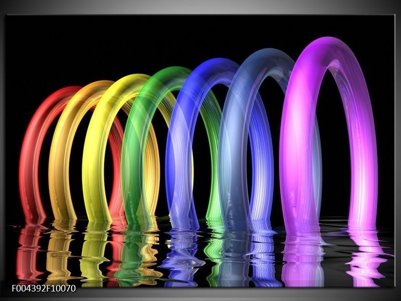 Glas schilderij Design | Geel, Paars, Blauw