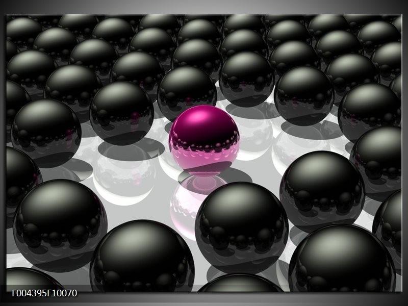 Foto canvas schilderij Design | Roze, Zwart, Grijs