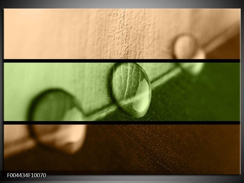 Glas schilderij Modern | Groen, Bruin