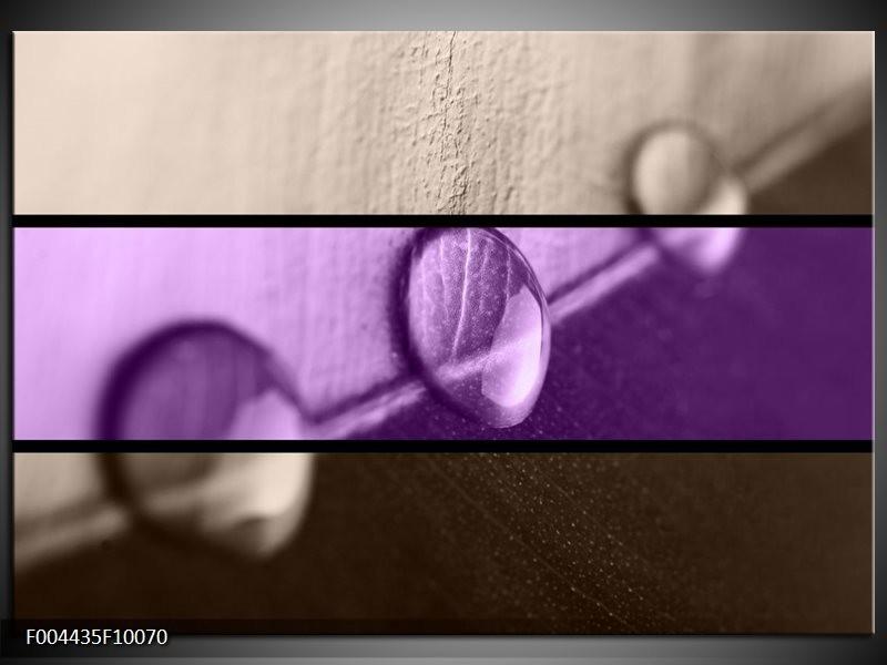 Foto canvas schilderij Druppels | Paars, Bruin