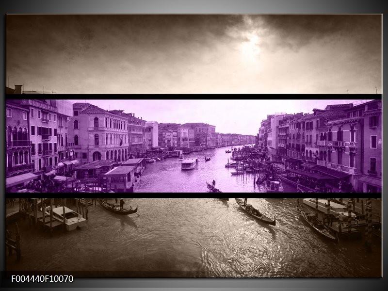 Glas schilderij Venetië | Paars, Grijs