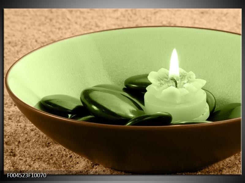 Glas schilderij Spa | Bruin, Groen