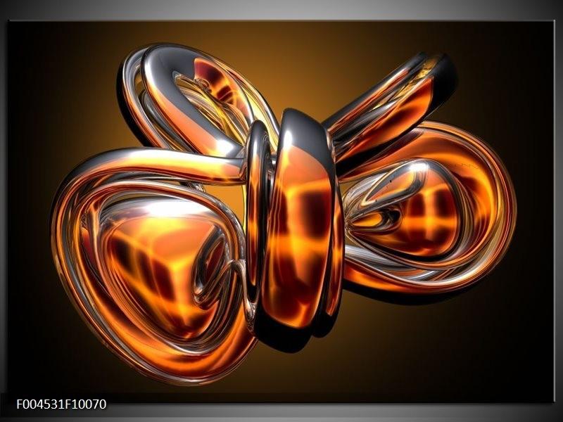 Glas schilderij Modern | Goud, Geel, Bruin
