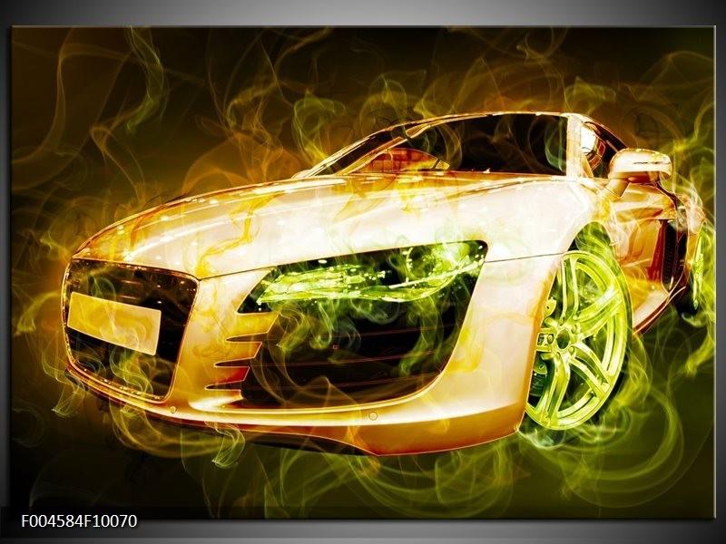 Glas schilderij Audi   Bruin, Groen