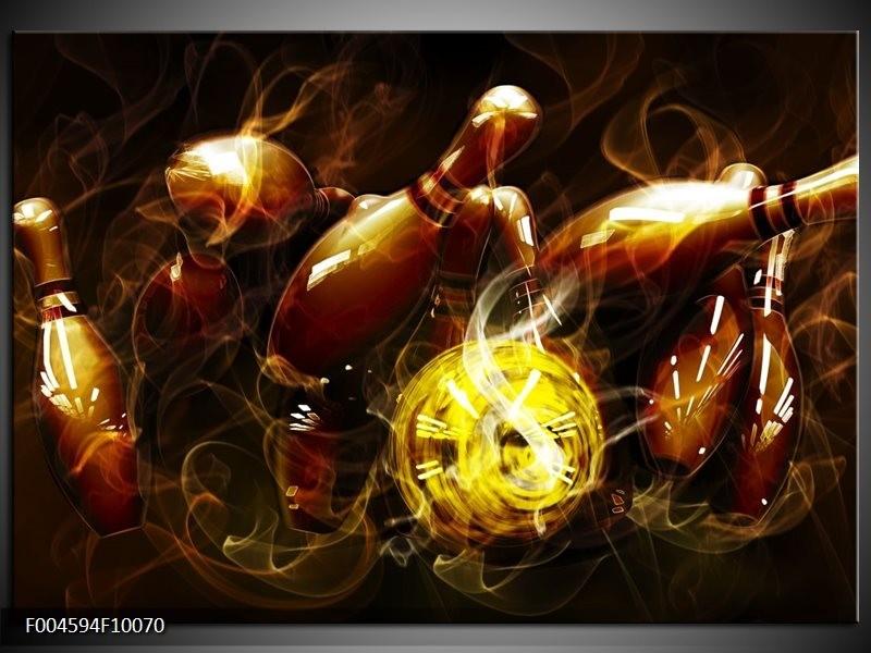 Glas schilderij Spel | Bruin, Geel, Zwart