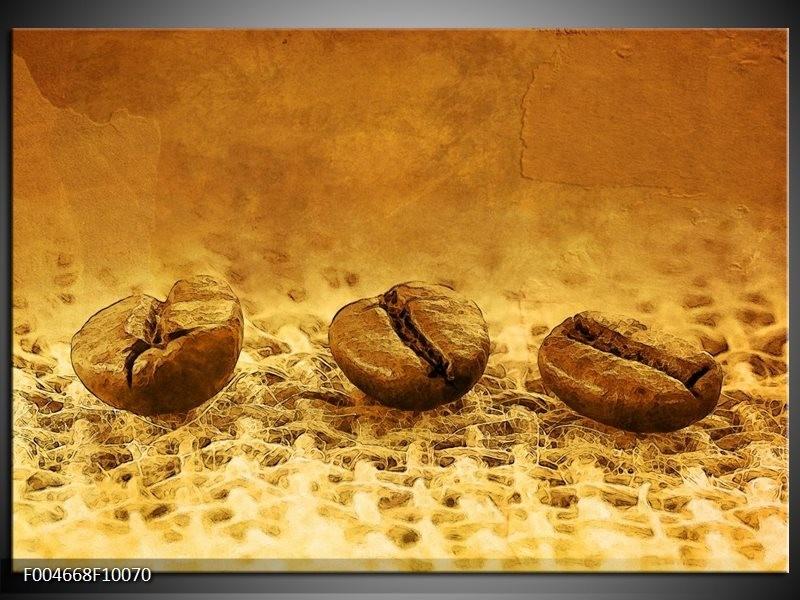 Glas schilderij Keuken | Bruin, Geel