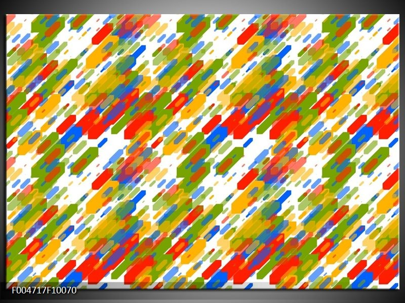 Glas schilderij Modern | Groen, Blauw, Rood