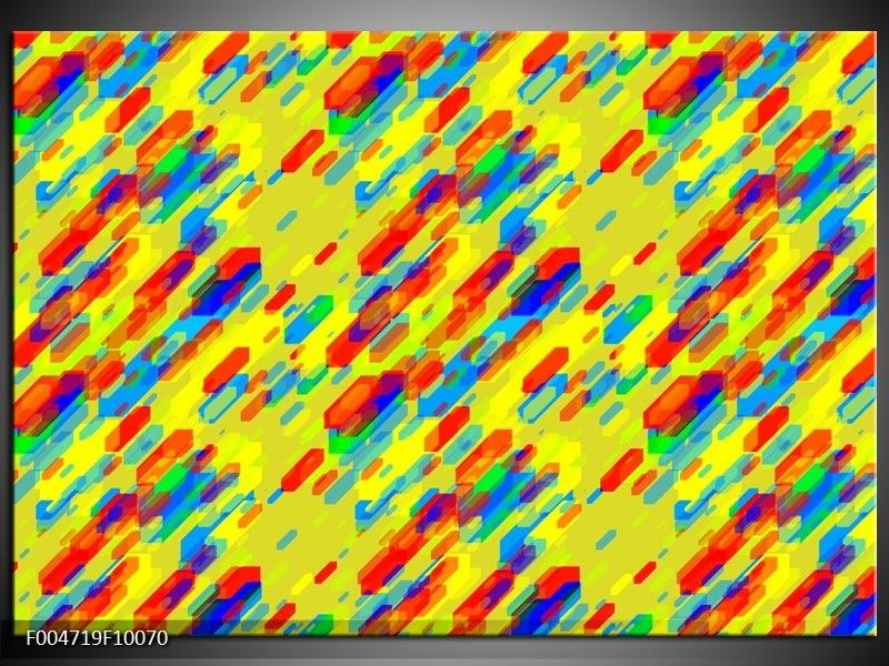 Glas schilderij Modern | Geel, Rood, Blauw