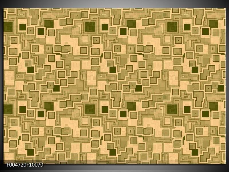 Glas schilderij Modern   Bruin, Groen